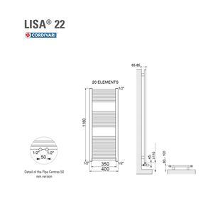 ΣΩΜΑ ΛΟΥΤΡΟΥ CORDIVARI LISA22 400X1200 351KCAL/H