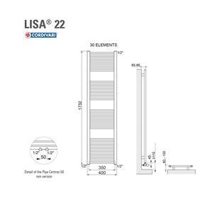 ΣΩΜΑ ΛΟΥΤΡΟΥ CORDIVARI LISA22 400X1800 545KCAL/H