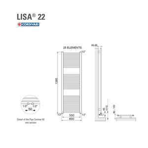 ΣΩΜΑ ΛΟΥΤΡΟΥ CORDIVARI LISA22 600X1400 605KCAL/H